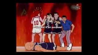Slam Dunk anime - Sakuragi Hanamichi Killer/KO Dunk! (eng sub)