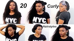 20 Quick & EASY CURLY HAIRSTYLES WITH EXTENSIONS  How to: Curly weave hairstyles  Longqi hair