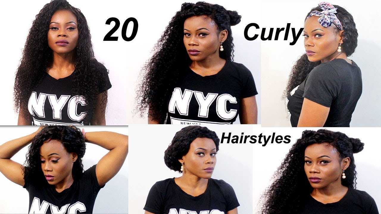 20 Quick Easy Curly Hairstyles With Extensions How To Curly Weave Hairstyles Longqi Hair Youtube