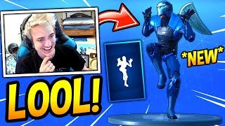 NINJA REACTS TO *NEW* ZANY DANCE/EMOTE! CRINGY! Fortnite SAVAGE & FUNNY Moments