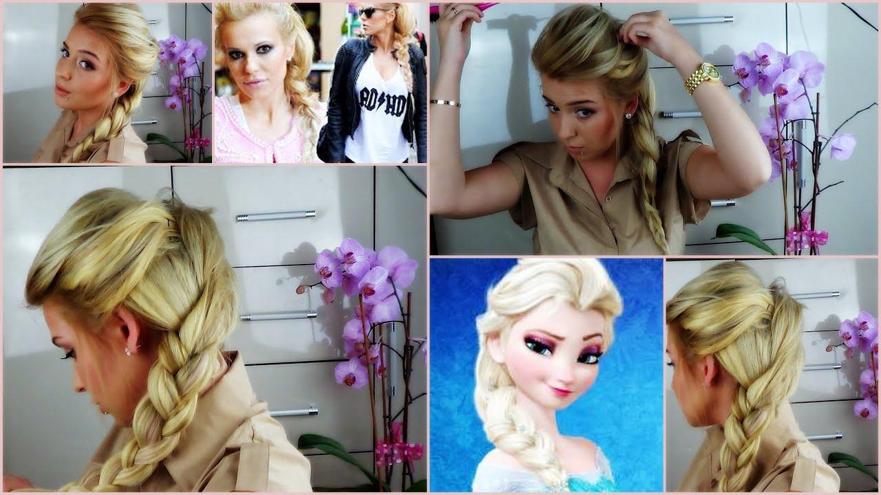 Objętościowy warkocz Frozen Elsa s