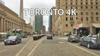 Toronto 4k - Waterfront Skyscrapers - Driving Downtown Canada