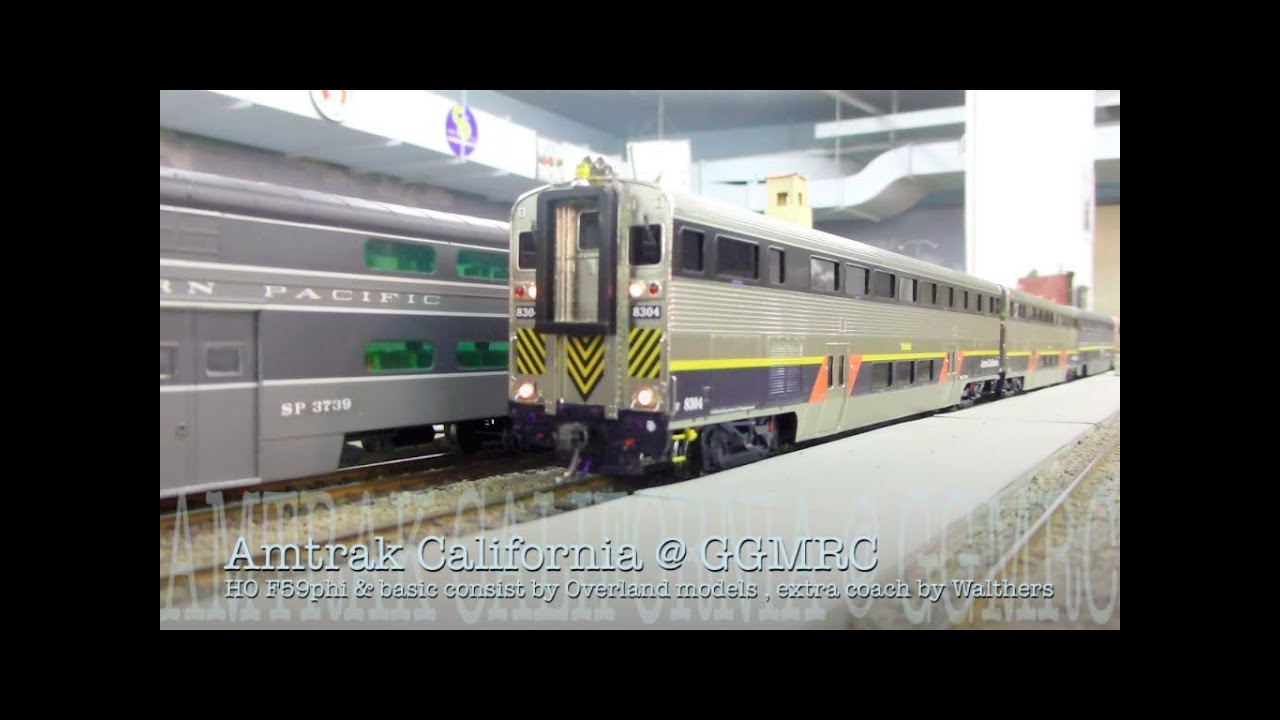 HO DCC & Sound Amtrak California consist w/ F59PHi by ...