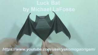 Halloween Origami LUCK BAT by Michael LaFosse - Yakomoga Origami Halloween tutorial