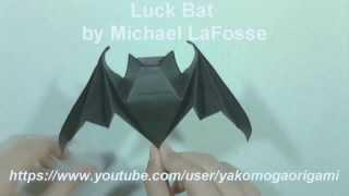 Halloween Origami LUCK BAT by Michael LaFosse - Yakomoga Origami Halloween tutorial