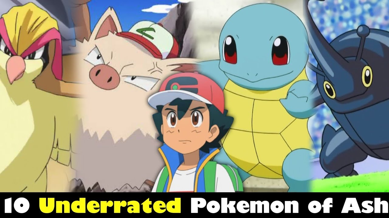 Top 10 Underrated Pokemon of Ash | Underrated Pokemon owned by ash | Top 10 Pokemon of ash | Hindi