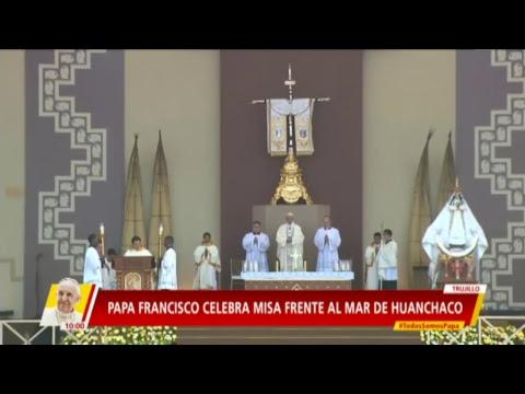 Hoy el Papa Francisco llega a Trujillo para la misa que dará en Huanchaco.