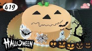 chocolate cake decorating bettercreme vanilla (419) Học Làm Bánh Kem Đơn Giản Đẹp -Halloween (419)