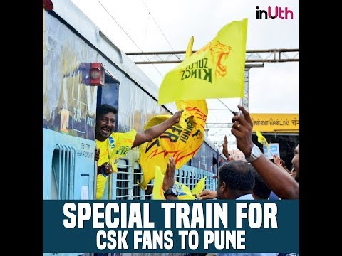 CSK Whistle Podu Express For Fans, CSK vs RR Pune match