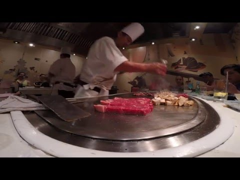 Teppan Edo Chef Cooking at Epcot's Japan Pavilion