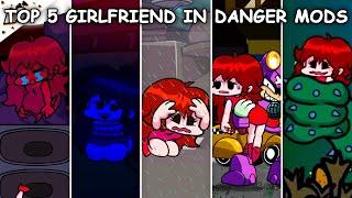 Top 5 Girlfriend in Danger Mods #7 - Friday Night Funkin'