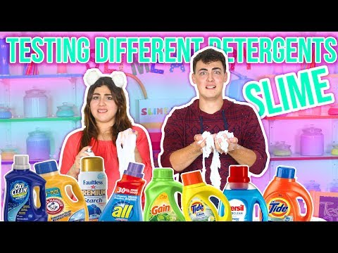 TESTING DIFFERENT DETERGENT FOR SLIME ACTIVATOR, testing slime activators | Slimeatory #46