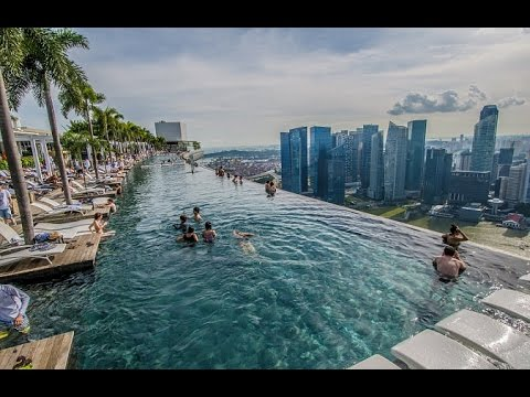 The world s most incredible infinity pool marina bay - Singapore famous hotel swimming pool ...