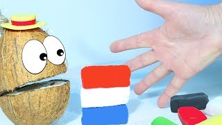 Весёлая Песенка про Пальчики  Учимся смешивать цвета с Мистером Кокосом