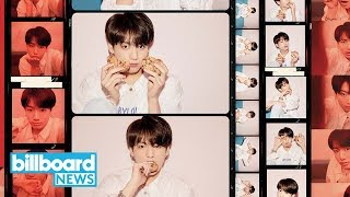 Jungkook Says He 'Learned a Lot' From Watching Ariana Grande's 'Sweetener' Concert | Billboard News