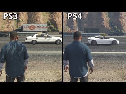 GTA 5 - PS4 vs PS3 Graphics (2017)