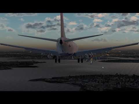 [X-Plane 11] NY LGA RNAV Y Rwy 22 Approach Boeing 737-900ER