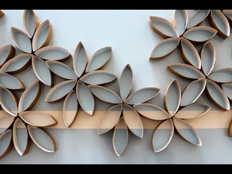 Flowers Using Toilet Paper Rolls Diy Youtube