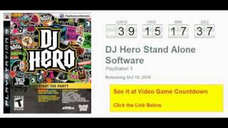 DJ Hero Stand Alone Software PS3 Countdown