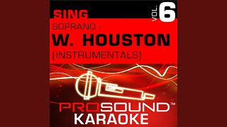 All The Man That I Need (Karaoke With Background Vocals) (In the Style of Whitney Houston)