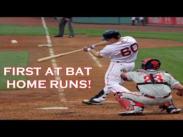 MLB | FIRST CAREER AT BAT HOME RUNS! | 1080p HD