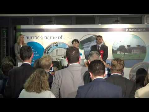 Thurrock - General Election Declaration