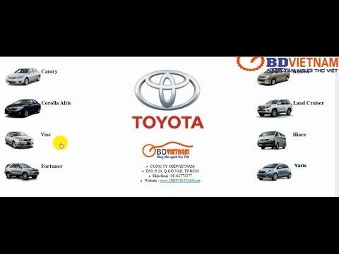 Hướng dẫn sử dụng cẩm nang sửa chữa các dòng xe Toyota bằng tiếng Việt