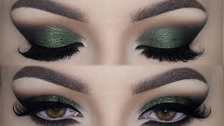 ♡  Olive Green Cat Smokey Eyes ♡ Make Up Tutorial | Melissa Samways