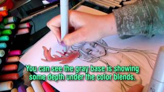 Copic Marker Drawing Tutorial: Using Copics like Watercolor Sketch a Day #58