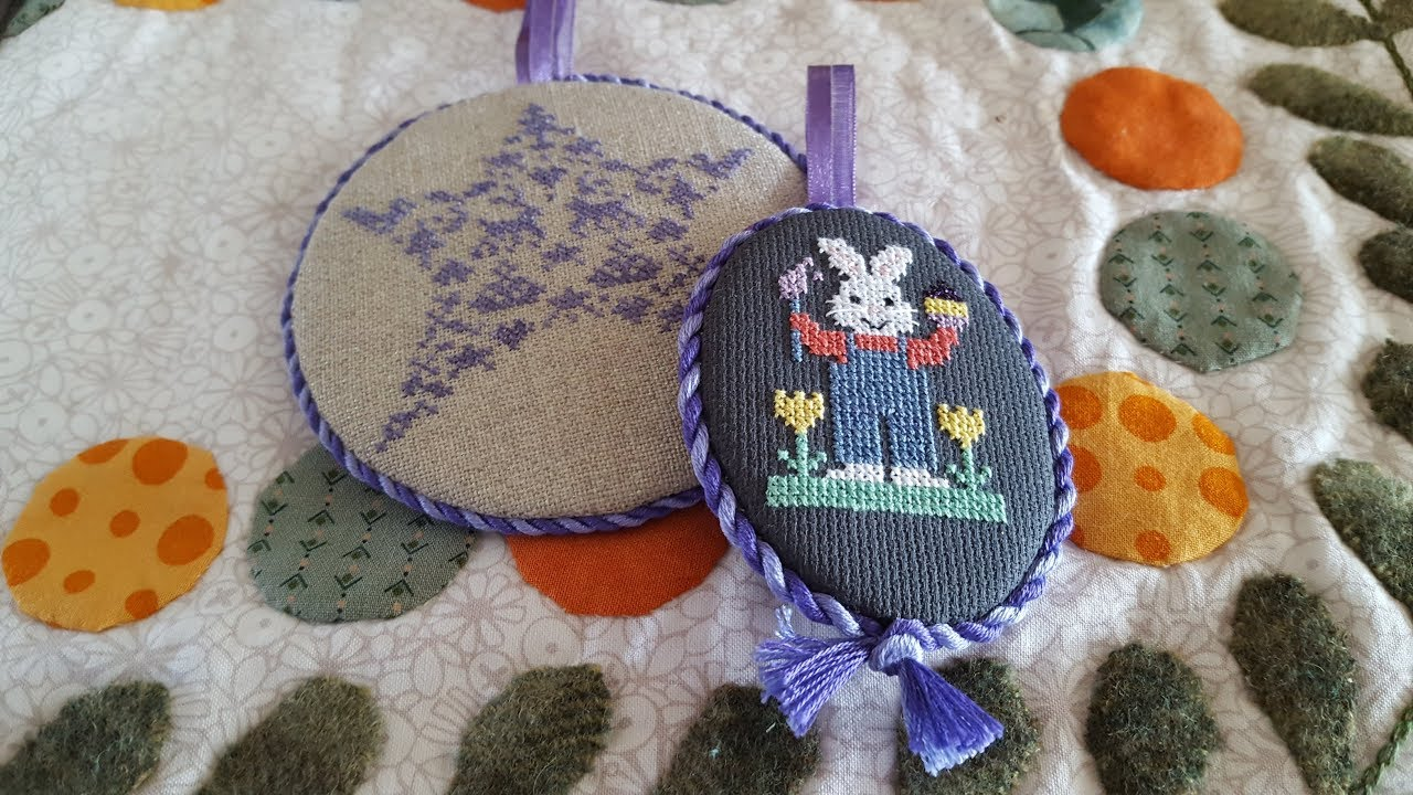 How to finish a cross stitch piece into a round or oval ornament ...