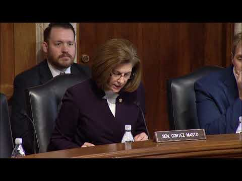 Cortez Masto Touts Nevada Assets in First Appearance as Ranking Member of Water & Power Subcommittee