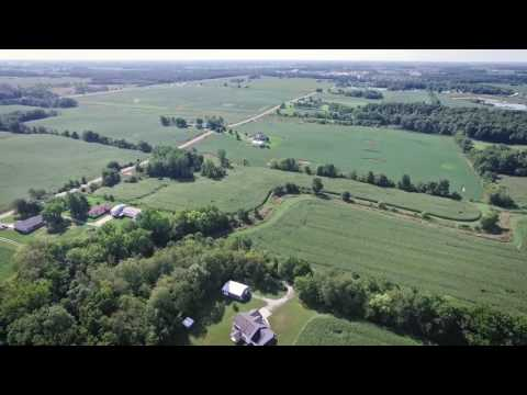 Video1740 County Road 27 Waterloo, Indiana 46793 Aerial Video