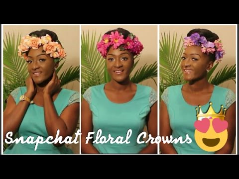 DIY Dollar Tree : 3 Snapchat Inspired Floral Crowns || Chanelle Novosey
