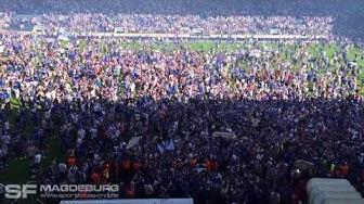 Minuten vor dem Aufstieg des FCM in die 2. Liga (HD Apr. 2018)