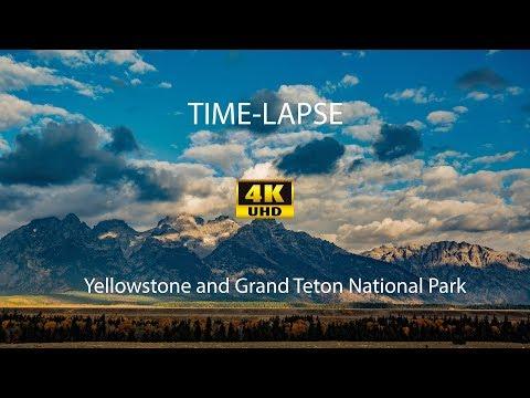 Yellowstone Lake, Mormon Burn, Grand Teton - Time Lapse - 4K UHD