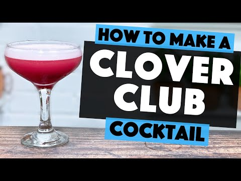 Clover Club Cocktail | How To Make This EASY Gin Cocktail