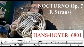 NOCTURNO Op. 7 F. Strauss. HANS HOYER 6801