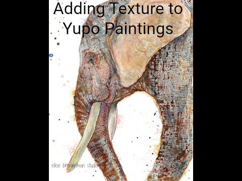 Best Yupo paper tip using stamps!