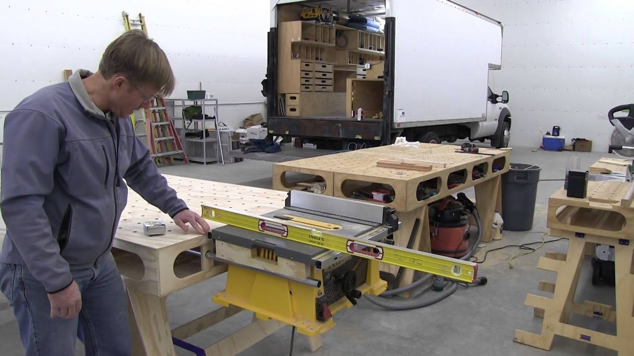 Building The Paulk Workbench Part 12 Table Saw Mounts For