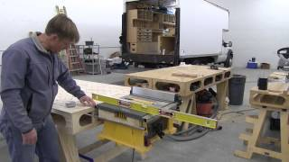 Building the Paulk Workbench PART 12: TABLE SAW MOUNTS FOR DeWALT DW744