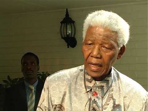 Nelson Mandela comments on death of Yasser Arafat on 11 Nov 2004