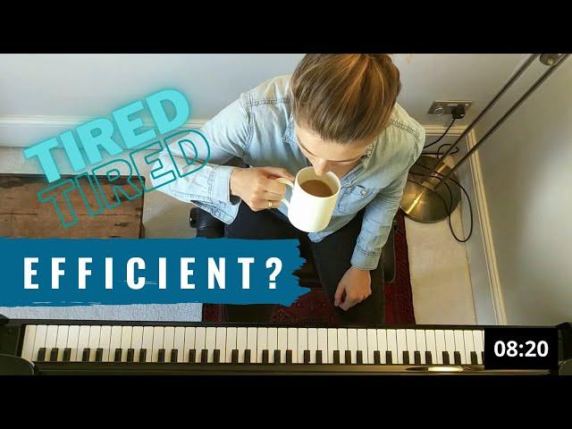 Efficient 20 min piano practice on no sleep! (Scriabin 2nd Sonata Finale)