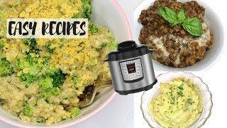 EASY INSTANT POT RECIPES! mashed potatoes, cheesy broccoli quinoa, pizza lentils