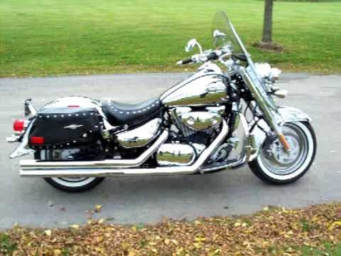 "suzuki boulevard c90 c90t all chrome motorcycle with cobra ""longs"