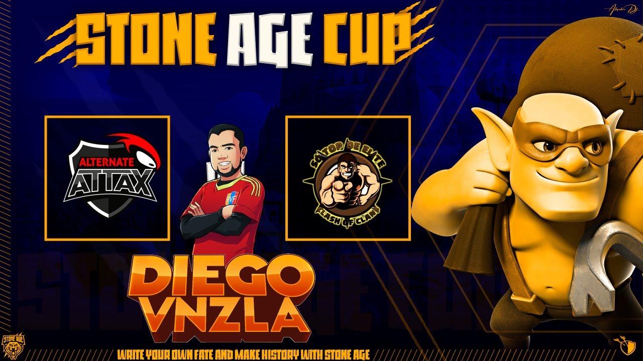 DIRECTO | ALTERNATE ATTAX VS SO TOP DE ELITE | STONE AGE CUP | Clash Of Clans | DiegoVnzlaYT