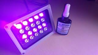 Ультрафиолетовая лампа своими руками. Тест клея Kafuter.