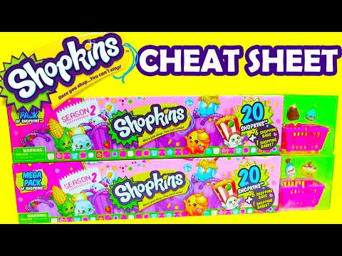 Shopkins Season 2 Cheat Sheet 2 20 Mega Packs of Shopkins Season 2