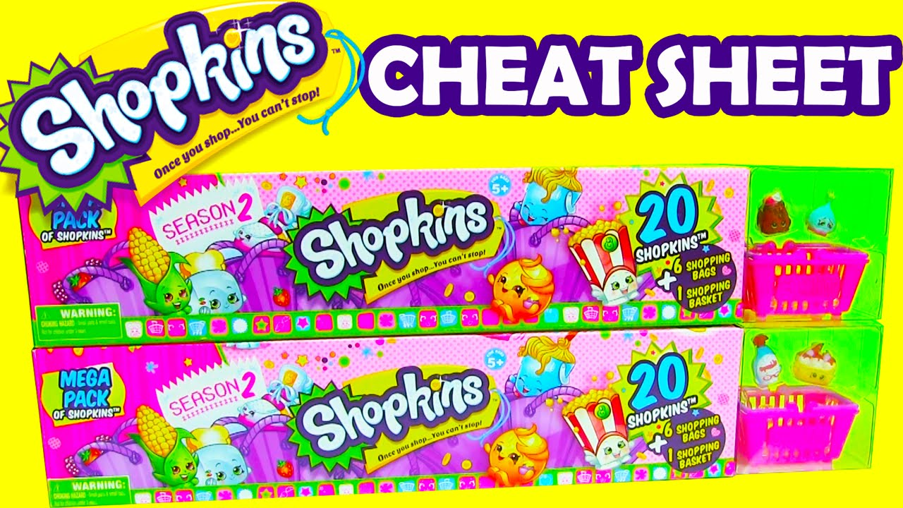 Shopkins Season 2 Cheat Sheet 20 Mega Packs Of