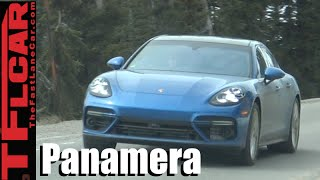 2017 Porsche Panamera Spied without Camo in the Wild