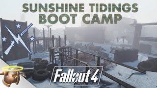SUNSHINE TIDINGS CO-OP BOOT CAMP Huge, realistic Fallout 4 custom settlement